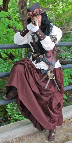 GET READY: Steampunk November Fall Festival DFW: 11/13-11/15 2015: Steampunk Annie Oakley Costume, Steampunk Wild West Attire