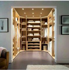 Walk in closet #all white