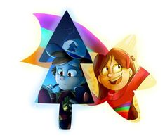 The persistent pine and cheerful shooting star, I do not do these drawings, art if you ask me but I would like them because they have great meaning for us that we would have been born in Gravity Falls Gravity Falls Anime, Gravity Falls Fan Art, Dipper Et Mabel, Mabel Pines, Dipper Pines, Big Dipper, Billdip, Monster Falls, Gavity Falls