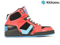 Red / Black / Teal Suede, Leather, Nubuck, Soft Action Leather  CupsoleConstructionwith Exposed EVA MidsoleThe NYC 83 high top is a classic mens lifestyle shoe from Osiris and just like a fine wine, keeps getting better with age. Introducing a new color, this fresh NYC 83 high top is set to turn heads. £74.99