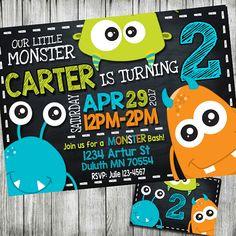 invitación de monstruo invitación de cumpleaños de monster