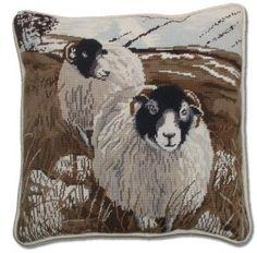Sheep cross stitch | ... Tapestry > Stitchery Animals and Birds >Moorland Sheep Tapestry