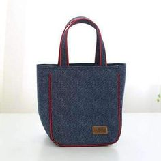097208e4acc8 Denim Large Lunch Bag Portable Women Picnic Bento Box Insulated Pack Drink  Food Thermal Ice Cooler Leisure Accessories