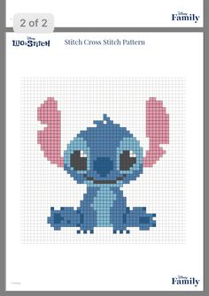 Craft a Handmade Birthday Card Cross Stitch Pattern Maker, Disney Cross Stitch Patterns, Cross Stitch Designs, Cross Stitching, Cross Stitch Embroidery, Embroidery Patterns, Mini Cross Stitch, Simple Cross Stitch, Lilo Und Stitch Ohana