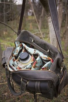 Love the whimsy surprise on the inside of this rugged bag....grit and grace is always a nice combination.