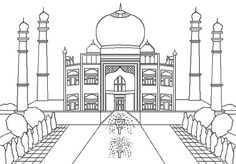 Taj Mahal The Jewel Of Muslim Art In India Coloring Page Netart Regarding Brilliant And Also Gorgeous To Really Encourage Color
