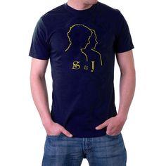 S & J T-shirt. Sherlock and John Holmes and Watson Detectives