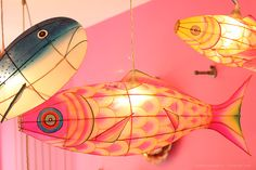 fish lamps, at shop in the Netherlands
