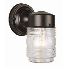 TransGlobe Lighting Outdoor 1 Light Jelly Jar Wall Lantern & Reviews | Wayfair