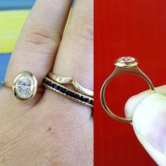 Handcrafted Shaesby engagement ring.