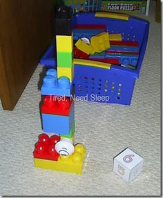 Tower of Babel:  Build towers by taking turns rolling a die and adding the corresponding number of blocks.