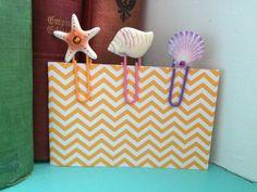 Seashell Page Markers. AmpedUpPlanners on Etsy! #clips #seashells #planner #filofax #planergirl