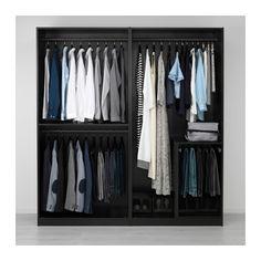 Amazing PAX Wardrobe black brown Undredal black soft closing hinge xx cm