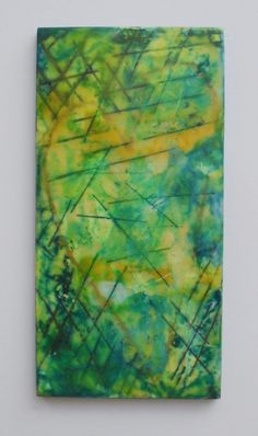 by His stripes Encaustic Collage by Sherry Ball Schoenfeldt of Studio Pashnada