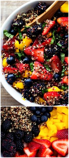 HONEY LIME QUINOA FRUIT SALAD is #3 on our list