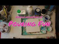 Pouring 63: Swirltechnik für Anfänger, mit großen Zellen (Tutorial auf Deutsch) - YouTube Fun, Youtube, Display, Canvas, Deutsch, Tutorials, Pictures, Painting Art