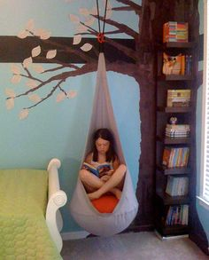 Hanging Cocoon Chair Reading Nook