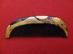 Excellent Vintage Japanese Lacquerware Hair Comb MAKIE (2)