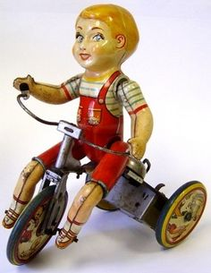 Billy bought this one for me long long ago!  I always liked my kiddy cyclist.