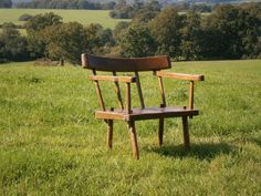 primitive stick back country chair