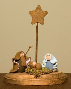 Whimsical Clay Nativity