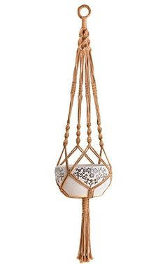 Mkono Colorful Macrame Plant Hanger Indoor Outdoor Hangin…