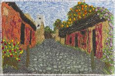 The Oriental Republic of Uruguay. Beautifully stitched postcards by the talented Leicestershire Branch of the Embroiderers' Guild. http://www.embroiderersguild.com