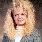 So remember these days, even have some photo's of friends with hair like this!