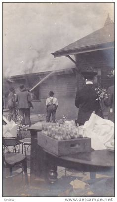 RP: #3/3 Railroad Depot Fire , Clemson , South Carolina , 1904 ; - Delcampe.com