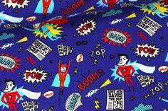 Jersey - Comic Action Superhelden - Blau auf alles-fuer-selbermacher.de