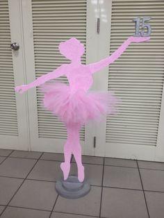 Bailarina Ballerina Birthday Parties, Ballerina Party, Ballet Cakes, Ballerina Silhouette, Dance Themes, Baby Shower Balloons, Flower Garlands, Childrens Party, Diy Wall Art
