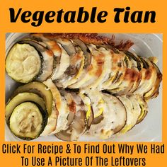 Vegetable Tian will have your family and friends thinking you are a super chef. Not only is it pretty and easy, but it is also absolutely delicious. Easy Vegetable Dishes, Vegetable Tian, Salmon Recipes, Veggie Recipes, Healthy Recipes, Veggie Meals, Healthy Foods, Kinds Of Vegetables, Veggies