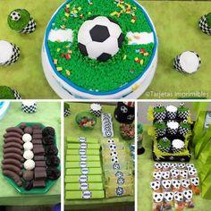 cumpleaños temático de fútbol, ideas para fiestas de fútbol