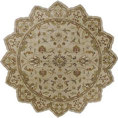 Shop for Hand-tufted Camelot Ivory Floral Border Wool Rug (8' Round). Get free shipping at Overstock.com - Your Online Home Decor Outlet Store! Get 5% in rewards with Club O!