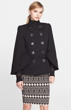 Alexander+McQueen+Double+Breasted+Wool+Jacket+available+at+#Nordstrom