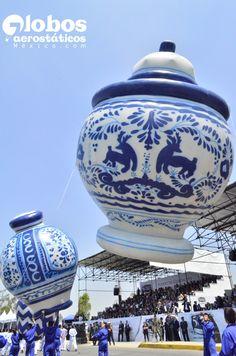 globos para desfile. replica de jarrones de talavera, pintados a mano. 2, 4 y 6 metros.