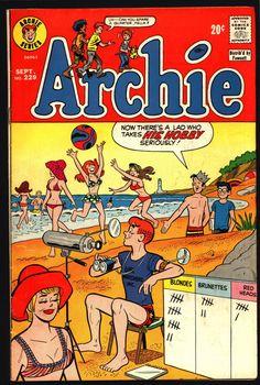 Archie Comics #229 1973 Dan DeCarlo Joe Edwards Harry Lucey Archie Andrews Jughead Betty & Veronica Riverdale High