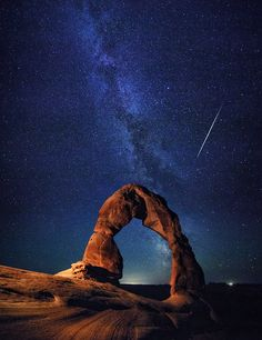 Delicate Arch And Milky Way, Arches National Park, USA