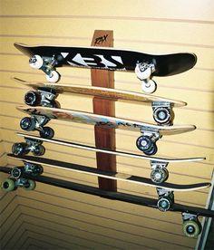 Six Skateboard Display And Storage Rack | RAX #skateboarddisplay  #skateboardstorage #storeyourboard Skateboard Storage