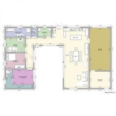 plan maison en u | MAISON EN U PISCINE - Plan 10 pièces 181 m2 dessiné par alexbull69