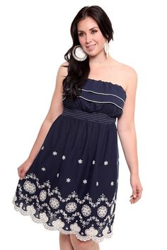 #navy, #torrid, #dress I'm waiting for this in the mail, I can't wait!