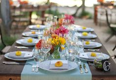 An Orange and Blue Outdoor Wedding in CA by Julie Mikos Photography