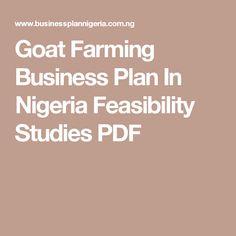 Goat Farming Business Plan In Nigeria Feasibility Studies PDF