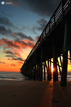 One of the best sunrise's you'll experience at Flagler Beach Pier. Just minutes from Legacy Vacation Resorts Palm Coast. #sunrise #flaglerbeach #palmcoast #florida #lovefl