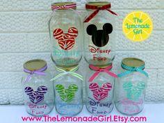 DISNEY FUND Coin Money Jar Eco Friendly by TheLemonadeGirl on Etsy, $12.00