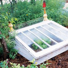 Prev  8/32  Next                                       DIY Cold Frame  Salvaged windows become a charming cold frame with a little DIY-ingenuity. Use reclaimed wood to complete the sides and keep your costs down -- then protect tender sprouts with style.