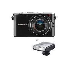 Samsung NX100 AF DSLR Digital Camera - Black- with 20-50mm Zoom Lens, & Samsung SEF15A A-TTL External Flash | Click Image For More Information or To Buy It