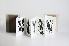 Of Bunnies and Botany by Remy Zimmerman - illustrated handmade accordion book Concertina Book, Accordion Book, Up Book, Book Art, Diy Journal Books, Handmade Books, Book Binding, Book Making, Mini Books