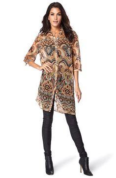 Super seje ONLY Skjortekjole Selena M?nstret fra Halens ONLY Overdele til Outlet i fantastisk kvalitet