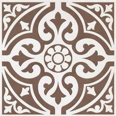 BCT Tiles - 9 Devonstone Brown Feature Floor Tiles - 331x331mm - BCT11057 at Victorian Plumbing UK I prefer the grey, but the brown may work well if we go with exposed copper pipework etc.